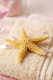 Starfish on a towel Stock Photography