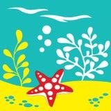 Starfish unter dem Meer Stockbild