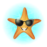 Starfish in water Royalty Free Stock Images
