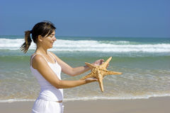 Starfish woman Royalty Free Stock Image