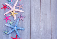 Starfish on wooden board Stock Image