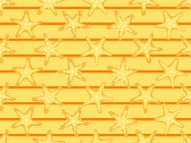 Starfishes seamless pattern, summer background.  Starfish and stripes. Vector. Illustration Stock Photography