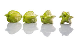 Starfruit或Carambula果子II 库存照片