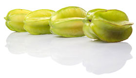 Starfruit或Carambula果子IV 免版税库存图片
