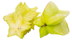 Starfruit or Carambola I. Starfruit or Carambola over white background Royalty Free Stock Photography