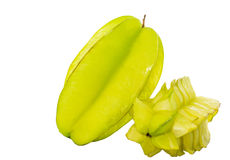 Starfruit or Carambola IV. Starfruit or Carambola over white background Stock Images