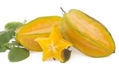 Starfruit, carambola no branco Imagens de Stock Royalty Free