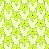Starfruit or carambola. Seamless pattern with. Fruits. Hand-drawn background. Real watercolor drawing Stock Photo