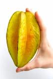 Starfruit dritto Fotografie Stock