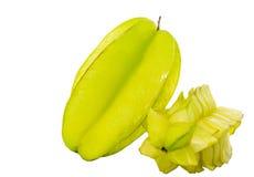 Starfruit eller Caramboladropp Arkivbilder