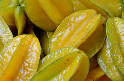 Starfruit in geel Stock Foto
