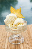 Starfruit Ice Cream by the Pool Stock Image