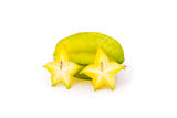 Starfruit. Starfruit on white background Stock Image