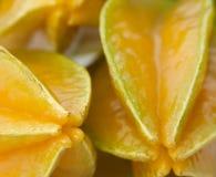Starfruit zakończenie Zdjęcie Royalty Free