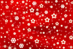 starful背景的圣诞节 库存照片