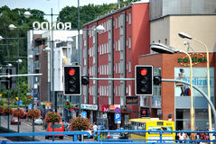 Stargard Szczeciński. Photo of a street in a centre of polish city Stargard Szczecinski Royalty Free Stock Photography