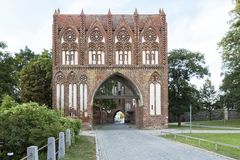 Stargarder Tor gate in Neubrandenburg, Germany. Stargarder Tor gate in the town of Neubrandenburg, Germany royalty free stock photography