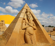 «Stargate» Akhenaten (Amenhotep IV) - pharaon de l'Egypte antique Image libre de droits