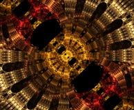 Stargate de incandescência no espaço, fundo abstrato gerado por computador Fractal galáctico do laço ilustração royalty free