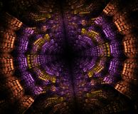 Stargate de incandescência no espaço, fundo abstrato gerado por computador Fractal galáctico do laço ilustração stock