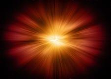 Stargate de incandescência no espaço profundo Pontos claros luminosos ilustração stock