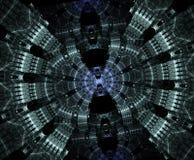 Stargate rougeoyant dans l'espace, fond abstrait généré par ordinateur Fractale galactique de dentelle illustration libre de droits