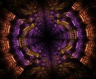Stargate rougeoyant dans l'espace, fond abstrait généré par ordinateur Fractale galactique de dentelle illustration stock