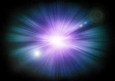Stargate rougeoyant dans l'espace lointain Taches lumineuses lumineuses illustration libre de droits