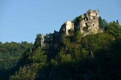 Starhrad城堡,斯洛伐克 免版税库存图片