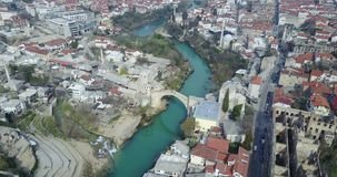 Stari多数u Mostaru 免版税库存图片