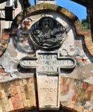 Stari毕业入口-科托尔老镇细节对堡垒的 免版税库存照片