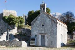 Stari毕业酒吧的石教会 图库摄影