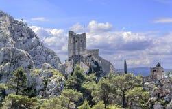 Stari毕业Fortica海盗堡垒废墟  克罗地亚 库存图片