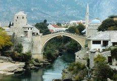 Stari большинств мост, Мостар стоковые фото