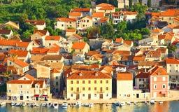 Stari-Absolventstadt auf Insel Hvar, Kroatien Lizenzfreies Stockbild