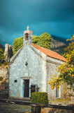STARI BAR, MONTENEGRO - September, 2016: The tiny church of St Jovan located in the old fortress. Ancient ruin . Stock Photos