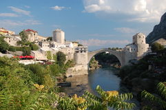 Stari de meesten in Mostar Stock Fotografie