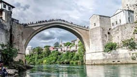 Stari die meiste Brücke in Mostar Lizenzfreie Stockbilder