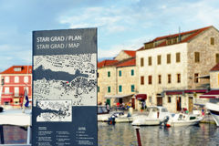 Stari Grad on Hvar island, Croatia Stock Image