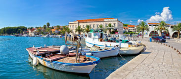 Stari grad on Hvar island panorama Royalty Free Stock Image