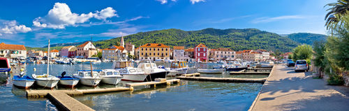 Stari Grad on Hvar island Stock Image