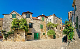 Stari Grad on Hvar island street Royalty Free Stock Photo