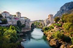 Stari het meest, Mostar, Bosnië-Herzegovina royalty-vrije stock afbeeldingen