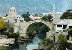 Stari mest bro, Mostar Arkivfoton