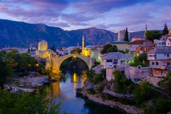 Stari mest, Mostar royaltyfri fotografi