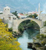 Stari Most bridge, Mostar. Stari Most bridge in Mostar, Bosnia and Herzegovina.  Stari Most is a reconstruction of a 16th-century Ottoman bridge that crosses the Royalty Free Stock Photo