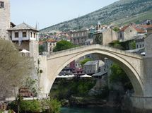 Stari Most in Mostar in Bosnia and Herzegovina Stock Image