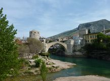 Stari Most in Mostar in Bosnia and Herzegovina Stock Photos