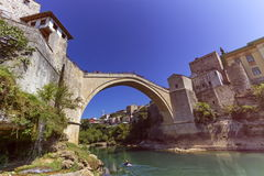Stari Most, old bridge, Mostar, Bosnia and Herzegovina Stock Image