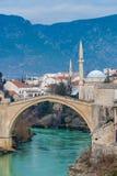 Stari, Najwięcej x28 &; Stary Bridge& x29; , Mostar, Bośnia Hezegovina Zdjęcia Royalty Free